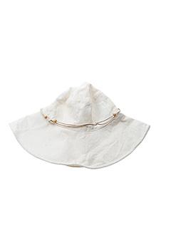 Chapeau blanc DDP pour fille