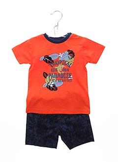 Top/short orange BABY BOL pour garçon