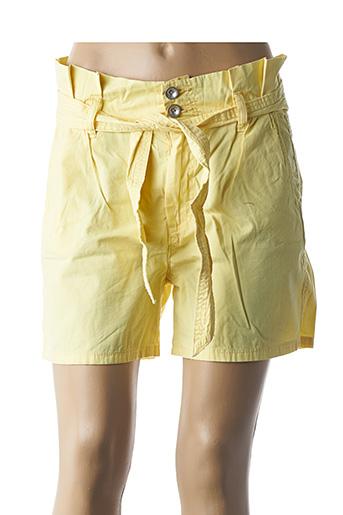 Short jaune C'EST BEAU LA VIE pour femme