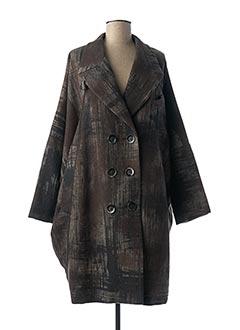 Manteau long marron HIGH pour femme
