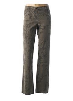 Pantalon casual vert CHRYSELIA pour femme