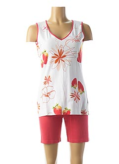 Pyjashort rose RINGELLA pour femme