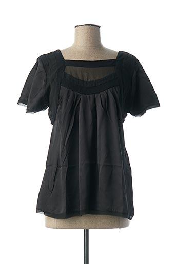 Blouse manches courtes noir AMBRE BABZOE pour femme