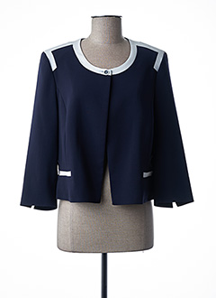 Veste chic / Blazer bleu FRANCE RIVOIRE pour femme