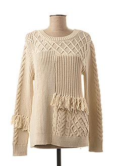 Pull col rond beige YAYA pour femme