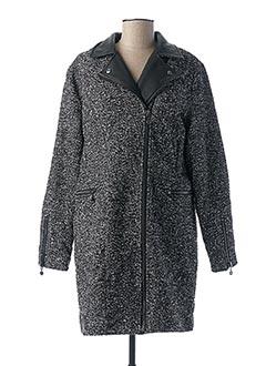 Manteau long noir LE TEMPS DES CERISES pour femme