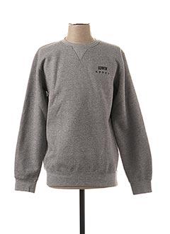 Sweat-shirt gris EDWIN pour homme