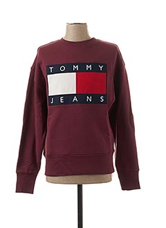 Sweat-shirt rouge TOMMY HILFIGER pour homme