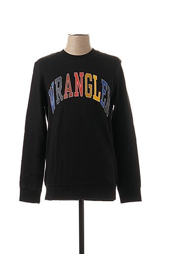 Sweat-shirt noir WRANGLER pour homme