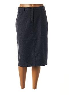 Jupe mi-longue bleu CHRISTIAN MARRY pour femme