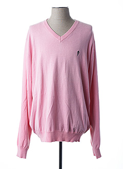 Pull col V rose RUCKFIELD pour homme