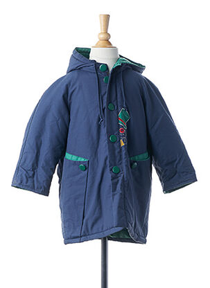 Manteau long bleu CHANTEPLUIE pour fille