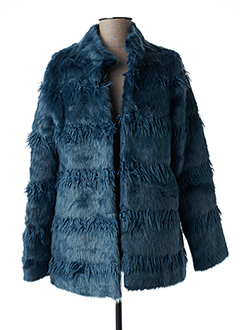 Manteau court bleu REVER MILE pour femme