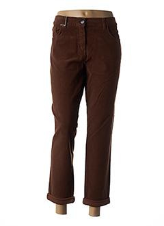 Pantalon casual marron EAST DRIVE pour femme