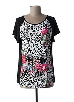 T-shirt manches courtes noir ARONA SAN FRANCISCO pour femme