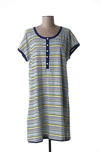 Chemise de nuit bleu ARABESCO pour femme