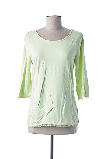 T-shirt manches longues vert DUO pour femme