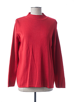 Pull col cheminée rouge FE EDITION pour femme