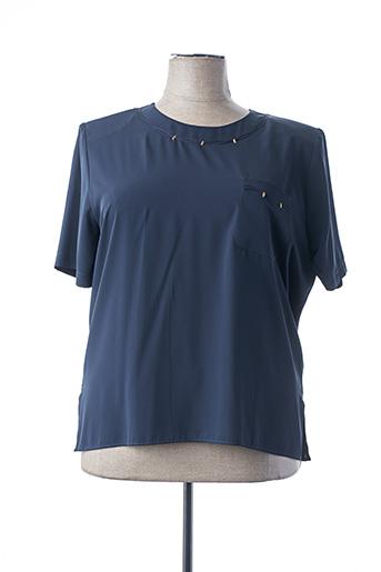 Blouse manches courtes bleu GRÈGE pour femme
