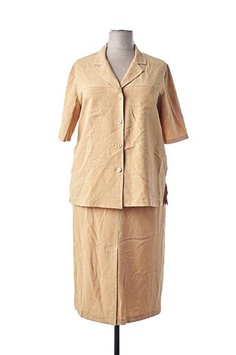 Veste/jupe jaune UMBERTO MONZA pour femme