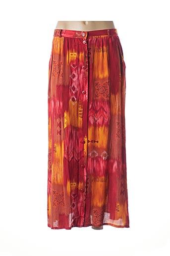 Jupe longue orange INTUITION pour femme