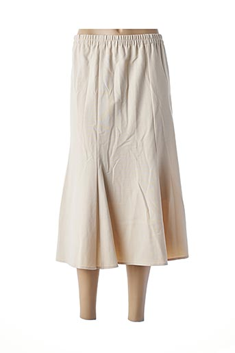 Jupe mi-longue beige KARTING pour femme