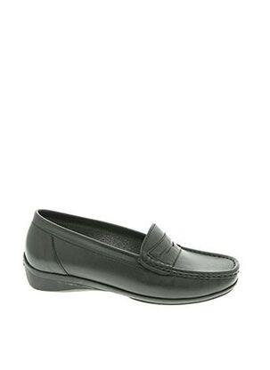 Chaussures bâteau noir ATIKA pour femme