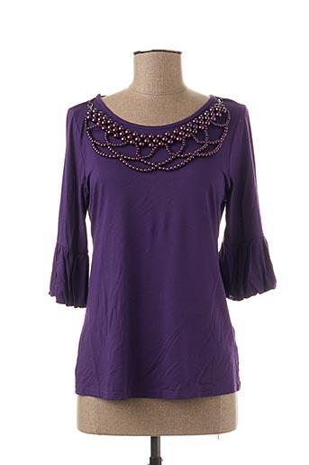 T-shirt manches longues violet CARRE ROUGE pour femme