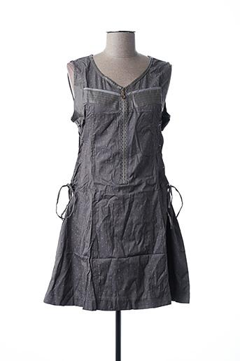 Robe courte gris L33 pour femme