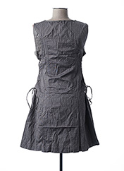 Robe courte gris L33 pour femme seconde vue
