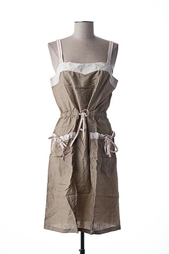 Robe mi-longue beige L33 pour femme