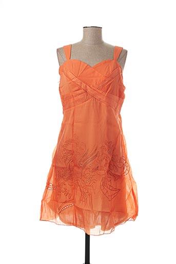 Robe mi-longue orange VIRGINIE & MOI pour femme