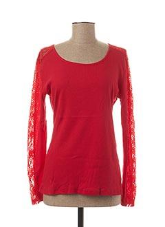 T-shirt manches longues rouge L33 pour femme