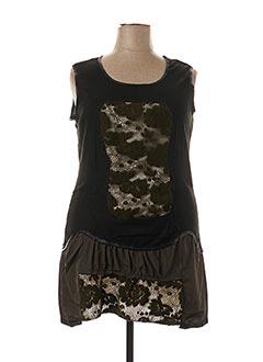 Robe courte vert L33 pour femme