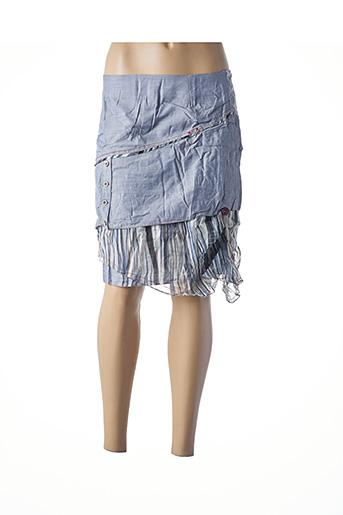 Jupe courte bleu L33 pour femme