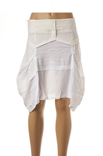 Jupe courte blanc VIRGINIE & MOI pour femme