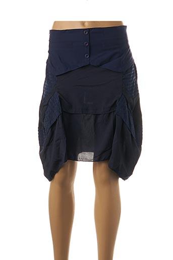 Jupe courte bleu VIRGINIE & MOI pour femme