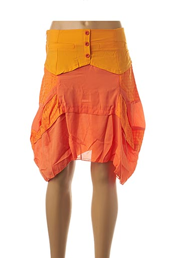 Jupe courte orange VIRGINIE & MOI pour femme