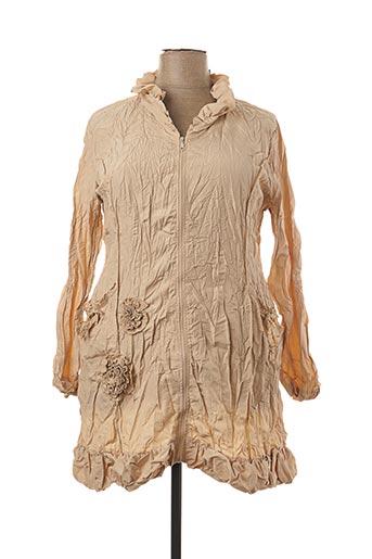 Veste casual beige L33 pour femme