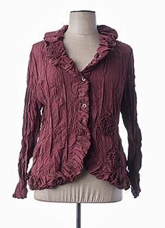 Veste casual rouge L33 pour femme