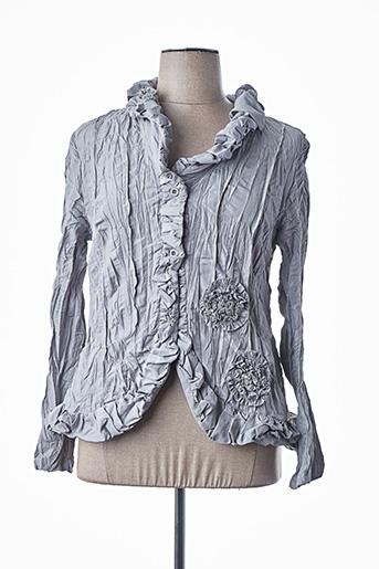 Veste casual gris L33 pour femme