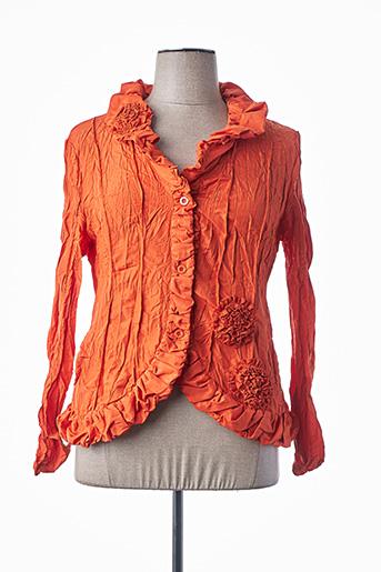 Veste casual orange L33 pour femme