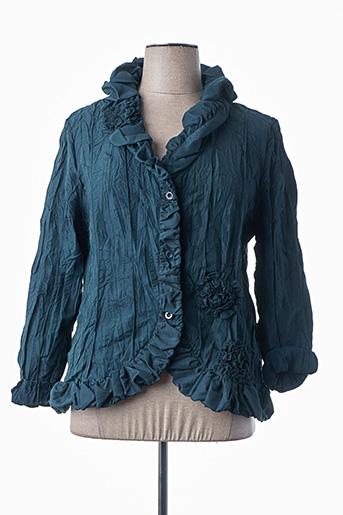 Veste casual vert L33 pour femme