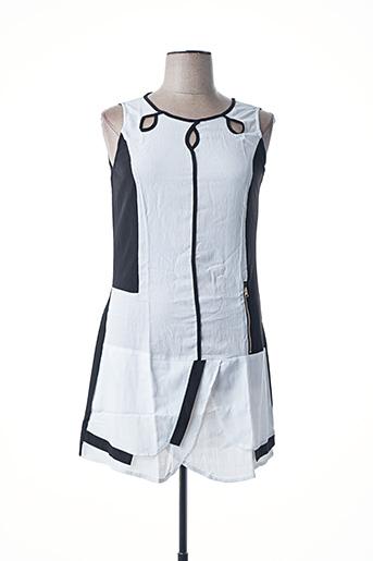 Robe mi-longue blanc VIRGINIE & MOI pour femme