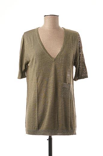 T-shirt manches courtes vert STEFAN GREEN pour femme