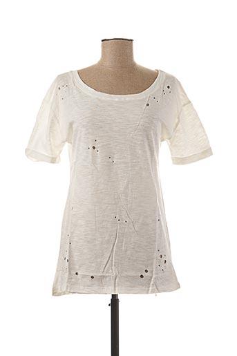 T-shirt manches courtes blanc AKOZ pour femme