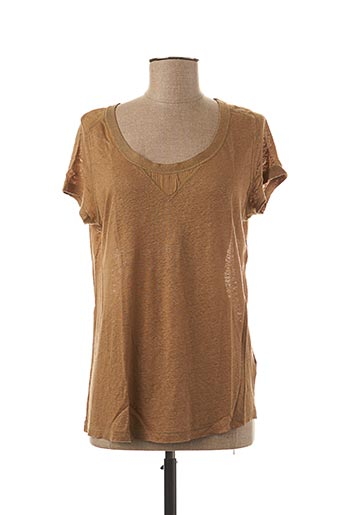 T-shirt manches courtes marron TEENFLO pour femme