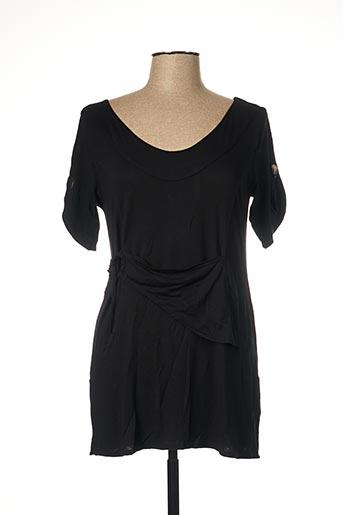 T-shirt manches courtes noir CATY LESCA pour femme