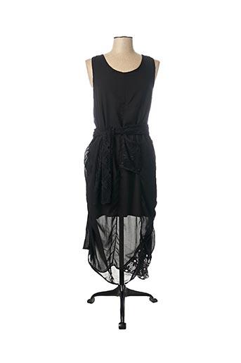 Robe longue noir CATY LESCA pour femme