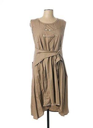 Robe mi-longue beige CATY LESCA pour femme